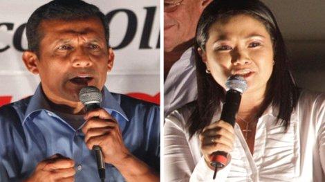 El nacionalista le lleva una ligera ventaja a Fujimori. (Foto: Internet)