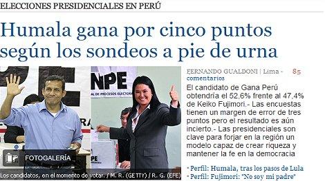 Prensa internacional resalta elecciones del Perú (Foto: Internet).