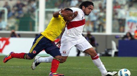 Perú y Colombia ofrecen un buen partido. (Foto: EFE)